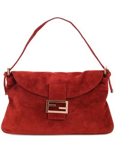 34439fd9862 Tan & White Fendi Python-Trimmed Zucca Baguette Bag | Products ...