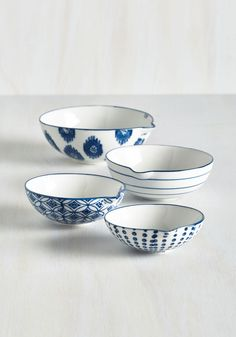 Prettiest Portions Measuring Cups. Even your cookware has intentional charm now that youve got these lovely ceramic measuring cups. #multi #wedding #modcloth