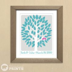 Personalized Canvas Wedding Tree Scroll - Guest Registry Signature Keepsake - 16x20 - Guestbook Scroll - 60 Signatures. $85.00, via Etsy.
