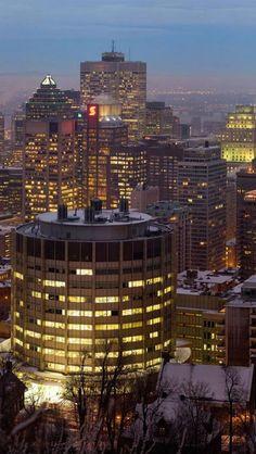 Montreal, Dusk, Quebec, Canada, iPhone,