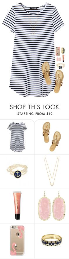 """Got Starbucks today!☕️"" by pineappleprincess1012 ❤ liked on Polyvore featuring Tory Burch, Fornash, Gorjana, Bobbi Brown Cosmetics, Kendra Scott and Casetify"
