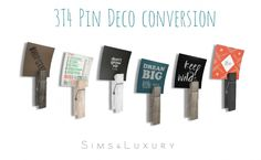 3T4 Pin Deco conversion at Sims4 Luxury via Sims 4 Updates