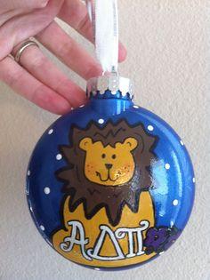 ADPi Christmas ornament - Alphie