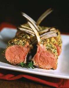 A variety of recipes and cooking tips from expert columnists Lamb Recipes, Meat Recipes, Asian Recipes, Healthy Recipes, French Recipes, Yummy Recipes, Healthy Food, French Rack Of Lamb Recipe, Bon Appetit