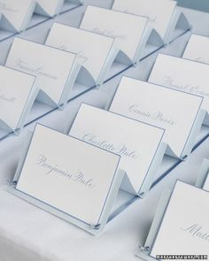 Accordian Escort Cards: I like the simplicity and organization of this idea.