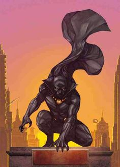 T'Challa is the Black Panther, the warrior king of the African nation of Wakanda. Black Panther was the first mainstream black superhero.--- anyone else super excited about the movie announcement? it's about time they did a Black Panther movie. Comic Book Characters, Comic Book Heroes, Marvel Characters, Comic Character, Comic Books Art, Comic Art, Marvel Movies, Comic Anime, Art Anime