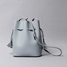 Leather bucket bag with detachable inner bag $214