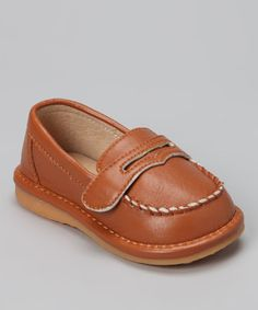 Take a look at this Brown Squeaker Loafer by Doodlebugs Boutique on #zulily today!