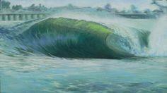 Santa Cruz Green by Kathryn Colvig, oil on canvas, original sold, prints available