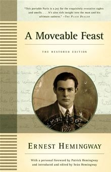 """Hemingway's deeply personal memoir of Paris in the 1920s with Scott Fitzgerald, Gertrude Stein, Ezra Pound and the rest. It has some rough passages, but also some of the most moving, beautiful, lyrical writing ever to grace a page.  Try to find the earlier edition before his son and publishers """"edited"""" it."""