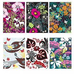 Hanna Werning Animal Flower Postcards