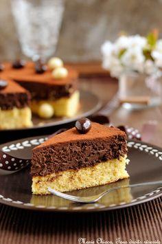Gâteau très léger au chocolat noir et 2 fèves précieuses