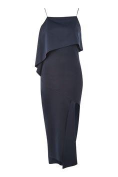 Asymmetric Hem Scuba Dress- TOPSHOP