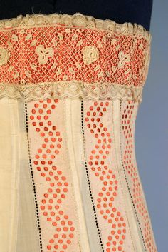 1914 corset detail- pretty sure I won't be able to rest until I re-create this now.