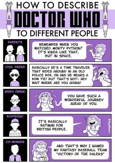 How to Explain #DoctorWho to Different People... I have this problem