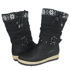 Comfy Moda Womens Winter Snow Boots Lala 612 7 Black *** Check out this great product.(This is an Amazon affiliate link and I receive a commission for the sales)