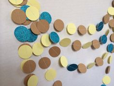 12ft Pocahontas Disney Princess Glitter Garland Birthday Party Decoration Teal Blue Glitter Brown and Yellow Garland on Etsy, $11.00
