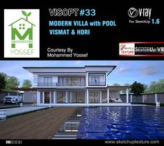 Free #vray for #sketchup 1.6 exterior VISOPT #33 HDRI and Vray vismat material…