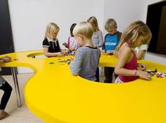 Constructive table at Ordrup School, Denmark.  What would this look like for JH, SH, or adults?