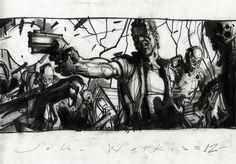 The Walking Dead TV Series Concept Art by John Watkiss