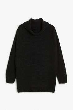 Monki Image 1 of Knit sweater  in Black
