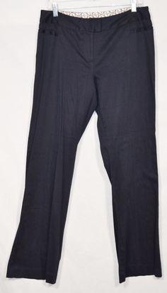 ADRIENNE VITTADINI NEW NWT Navy Blue Stretch Cotton Pants 10 Career Style #AdrienneVittadini #DressPants