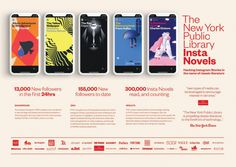 The New York Public Library joined forces with the independent advertising and creative agency, Mother New York, to create Insta Novels, a reimagining of Ins. Ads Creative, Creative Advertising, Cv Original, Online Presentation, Presentation Boards, Case Study Design, Study Board, Digital Campaign, Best Ads