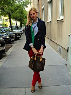 Office Wear- IF only i was brave enough for red skinnies!