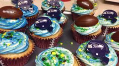 #seahawks cupcakes by Cupcake Queen
