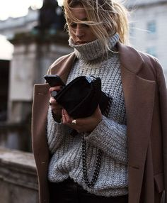 Look hiver pull gris