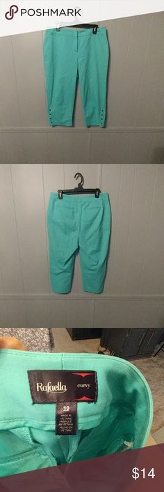 Rafaella turquoise dress crops Size 10 Curvy, worn but great condition. Rafaella Pants Ankle & Cropped