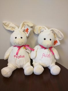 Personalized stuffed animals for Easter baskets!