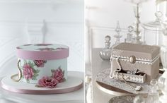 vintage jewellery box cake and hat box cake by Zoe Clark Cakes Wedding Cupcake Toppers, Wedding Cupcakes, Wedding Desserts, Hat Box Cake, Gift Box Cakes, Wedding Cake Accessories, Vintage Accessories, Parisian Cake, Luxury Cake