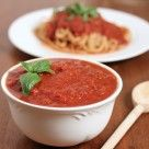 Homemade marinara sauce made in a slow cooker. Make it in large batches and freeze for convenient week day family dinners.