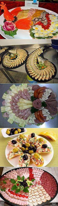 �?деи оформления праздничных блюд и нарезки | Домохозяйка