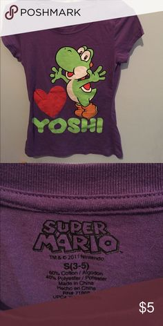 Yoshi tshirt Cute Yoshi t-shirt! Smoke and pet free home. Entire closet is buy one get one half off. Tops Tees - Short Sleeve