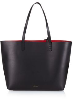 Mansur Gavriel Large red-lined leather tote