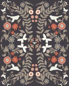 Birds mirror print