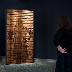 Daniel Rozin, Rust Mirror, 2009, courtesy Bitforms Gallery