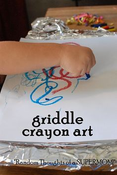 Griddle Crayon Art