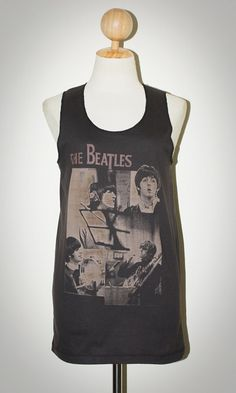 Womens John Lennon The Beatles Iconic Rock Vest Tank Top Sizes UK 8 to 16