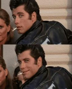 I hate smoking but every time it gets to this point in Grease my heart skips a beat because of John Travolta. Grease 1978, Grease Movie, Grease Boys, T Birds Grease, Iconic Movies, Old Movies, Beau Film, Film Mythique, Grease Is The Word
