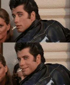 ❤ Danny Zuko, aka Grease's T-Bird played by John Travolta. #guiltypleasure #badboyobsessions