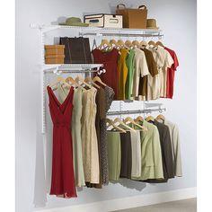 Adjustable Closet Storage Kit Sturdy Wall Mount Storage 3' to 6' Metal White