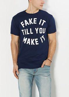Distressed Fake It Tee | rue21