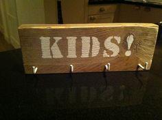 Diy steigerhout kapstok kids!