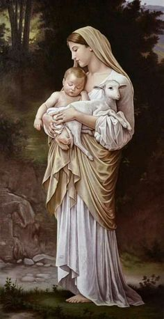 Jesus Mother, Blessed Mother Mary, Blessed Virgin Mary, Baby Jesus, Mother Mary Images, Images Of Mary, Angel Pictures, Jesus Pictures, Catholic Art