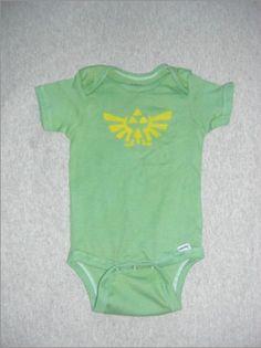 Zelda-inspired onesie--nerdy dads will love this.