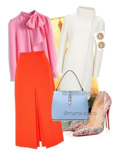 """""""Untitled #77"""" by mama-liciuos ❤ liked on Polyvore featuring Chicwish, Apiece Apart, Christian Louboutin and Carolee"""
