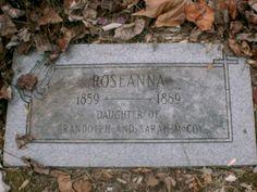 Rosanna mccoy 1859 1889 find a grave photos more famous graves graves